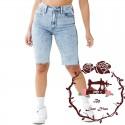 Patrón Bermuda De Jeans Para Dama Escalado 38 - 44