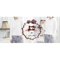 Patrón camiseta de Pijama Para Dama Escalado a 5 tallas