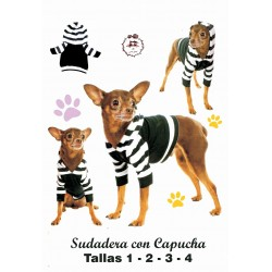 Patrón Camiseta Sudadera Con Capucha Para Mascotas