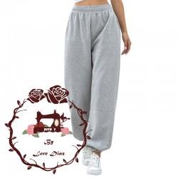 Patrón Pantalón de chándal Para Dama - Ancho