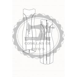 Patrón Base Vestido de Mujer Corte Dior (Costadillo)